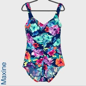 Maxine Hollywood floral one piece swimsuit